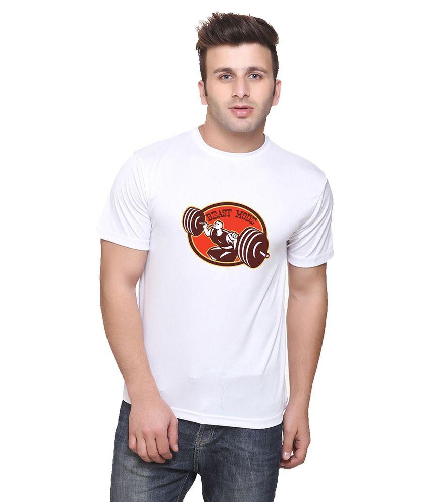 Oh Fish White Round T Shirt