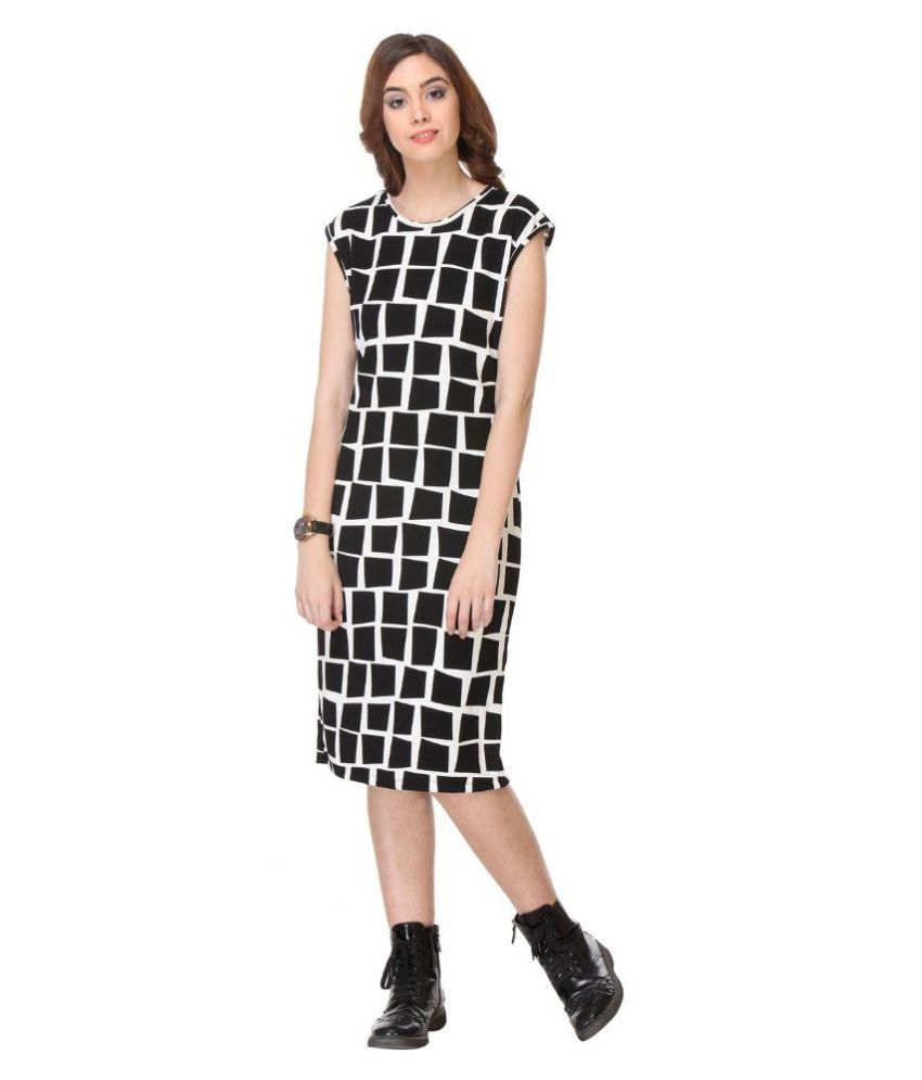 Shopostay Black Cotton Midi Dress - Buy Shopostay Black Cotton Midi Dress  Online at Best Prices in India on Snapdeal ae3b33861