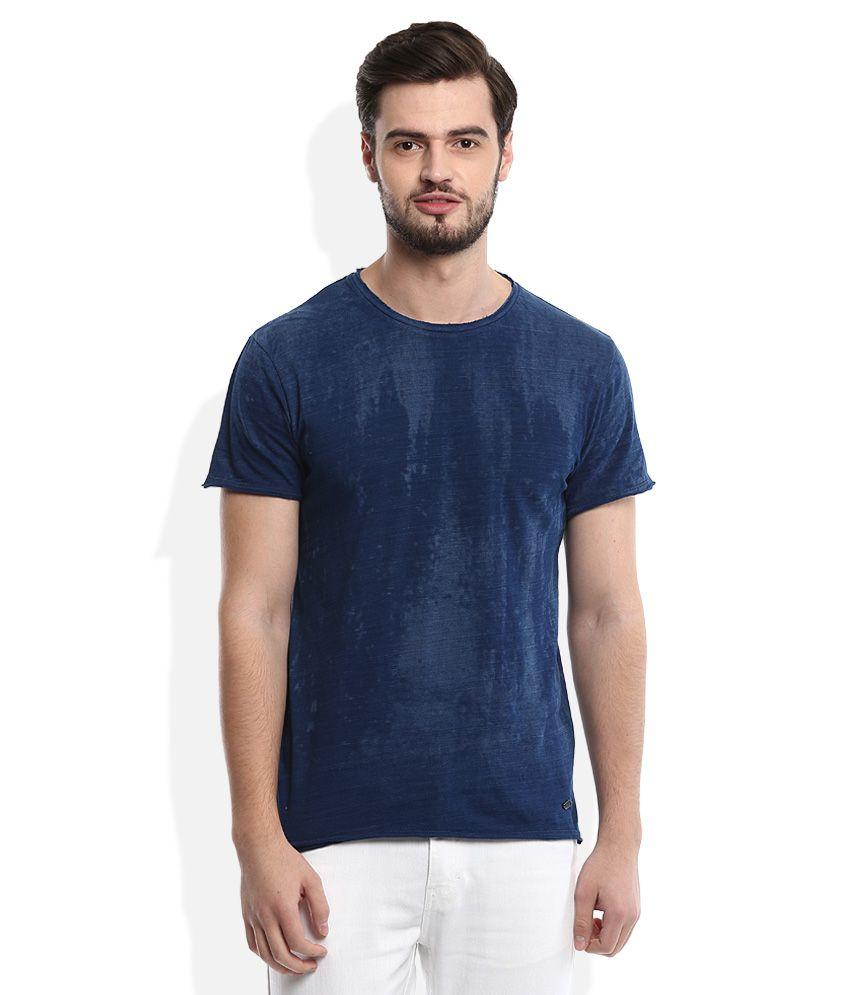 Voi Jeans Blue Round Neck T Shirt