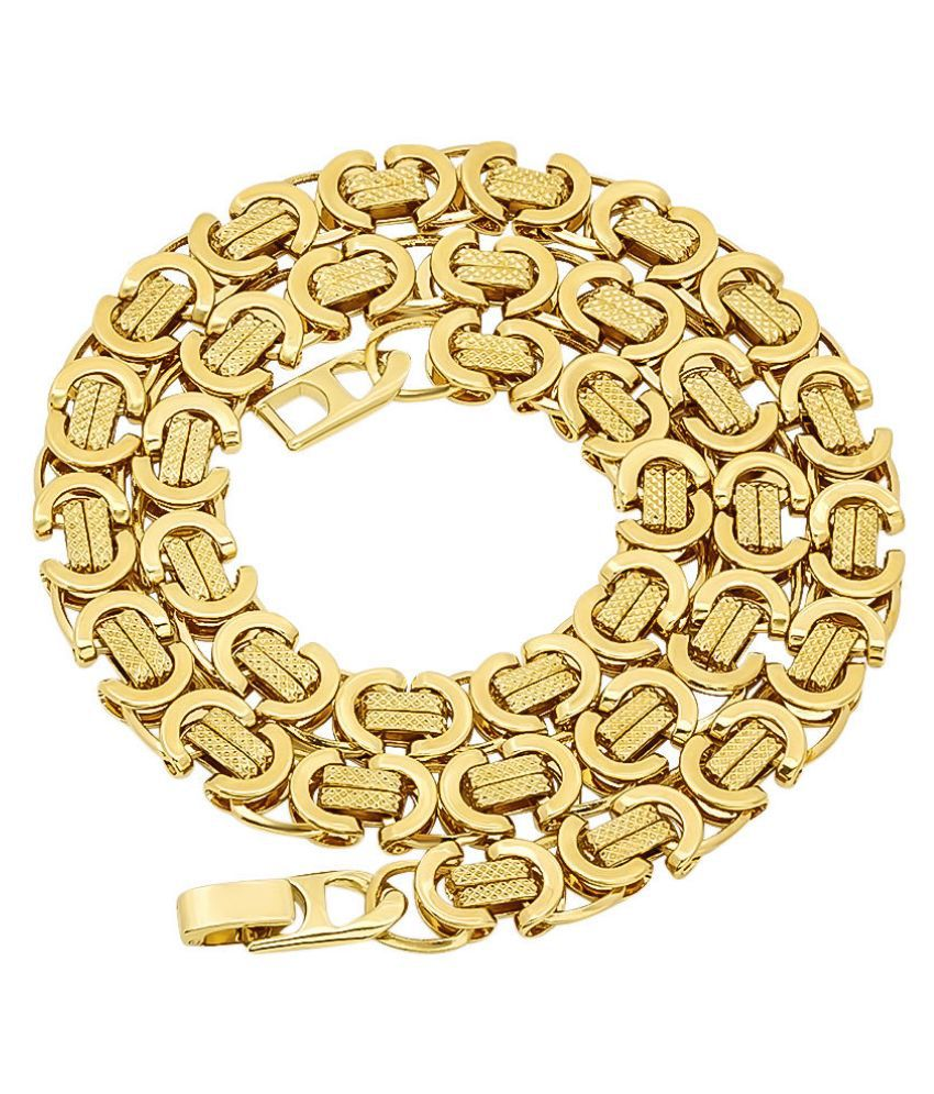 AVN Jewellers 18Kt Gold and Rhodium Coated Chain