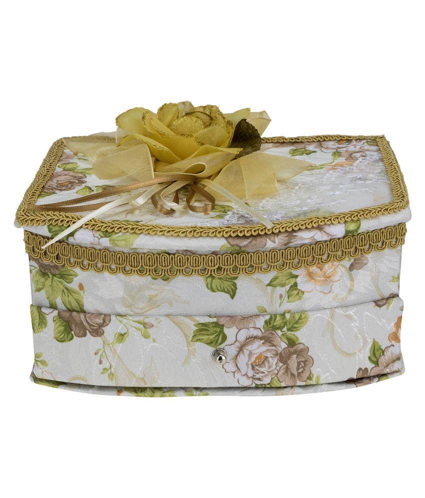 Avenue Wood Studded White Coloured Jewellery Box