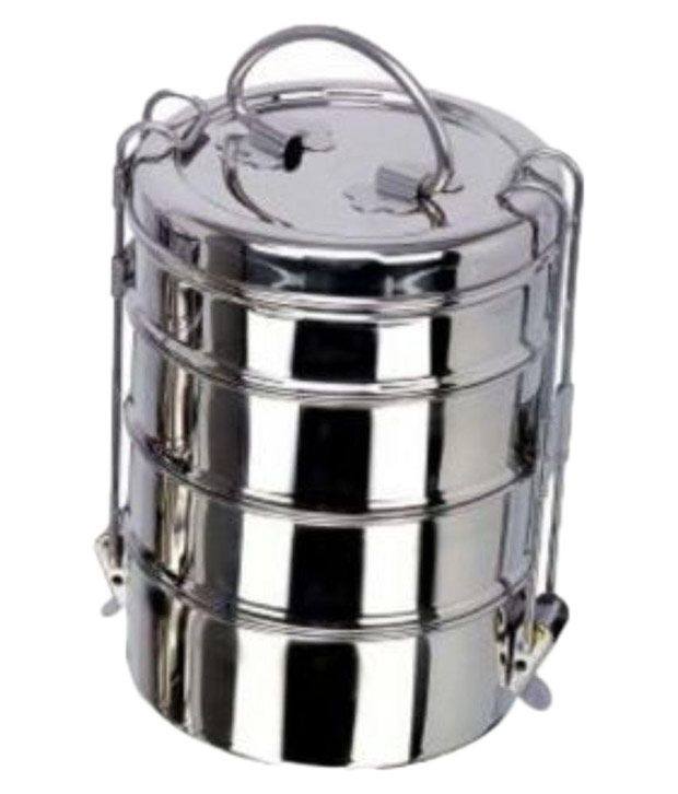 Dynore Silver Steel Lunch Box Buy Online At Best Price In India