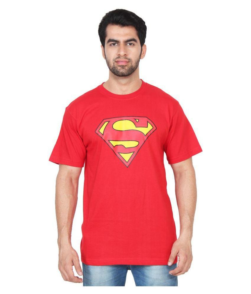 Fashion Shopper Red Round T Shirt