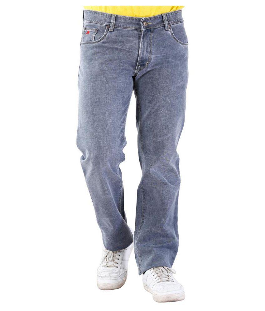 La Mode Grey Slim Fit Solid Jeans