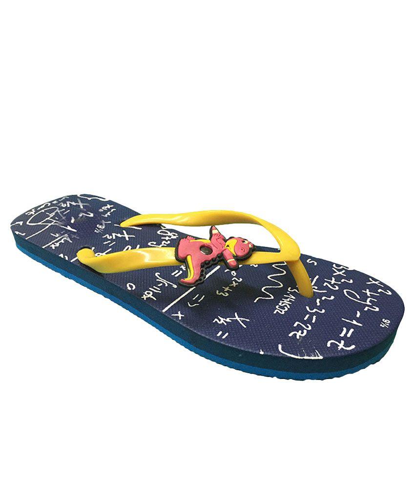 Shoe Lab Yellow Flip Flops