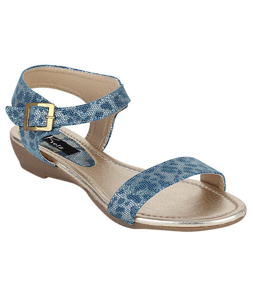 Kielz Blue Wedges Heels