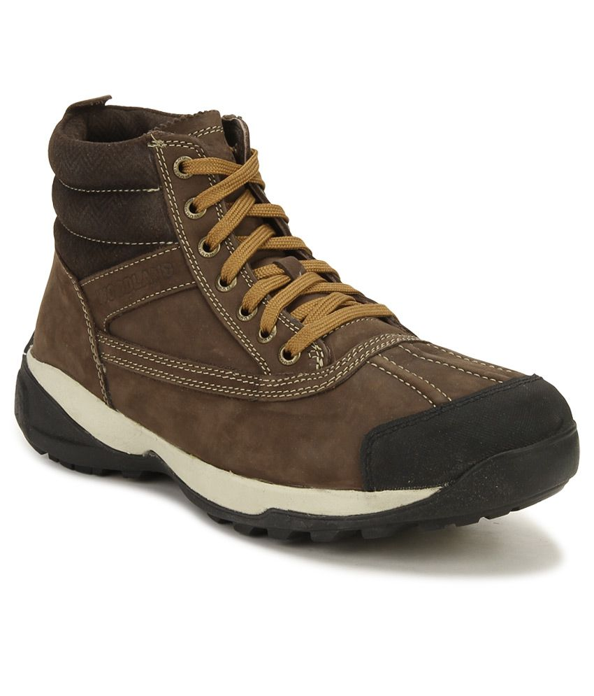 woodland brown outdoor casual shoes