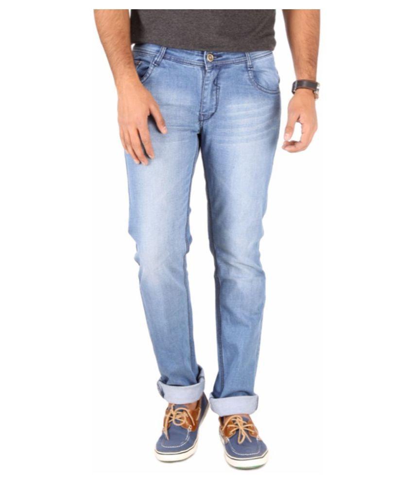Unico Wear Blue Slim Fit Faded Jeans