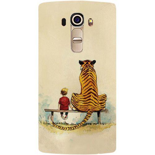 promo code 6ee39 abfd9 Casotec Tiger With Boy Design Hard Back Case Cover for LG G4