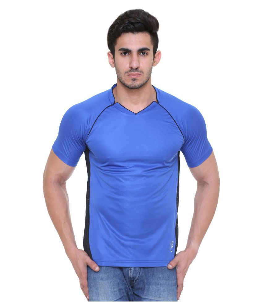Hikes Blue Polyester T-Shirt