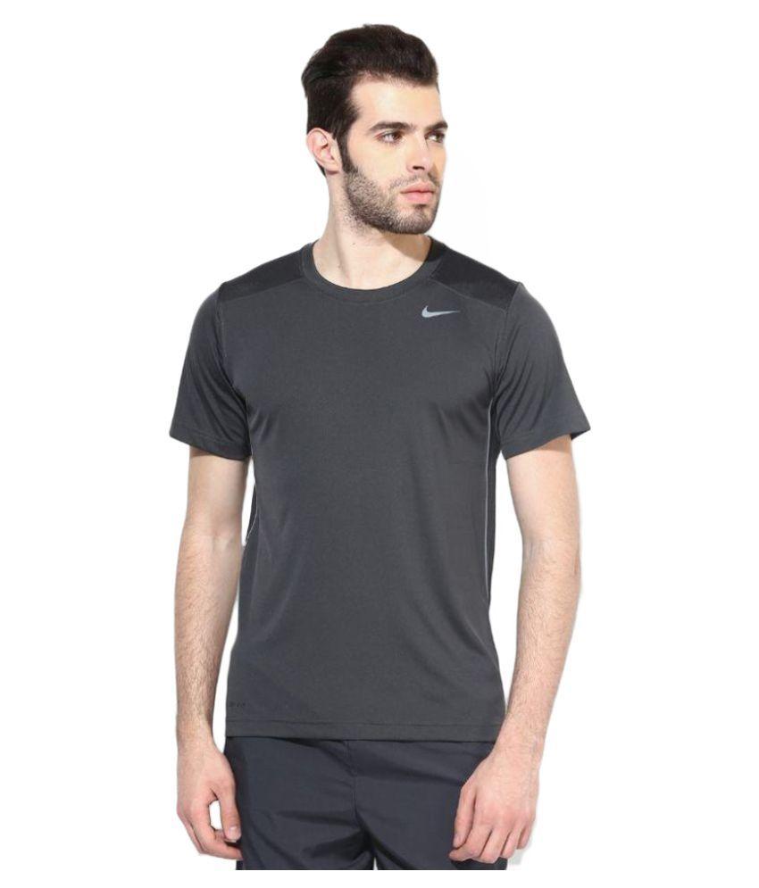 Nike Grey Polyester T-Shirt