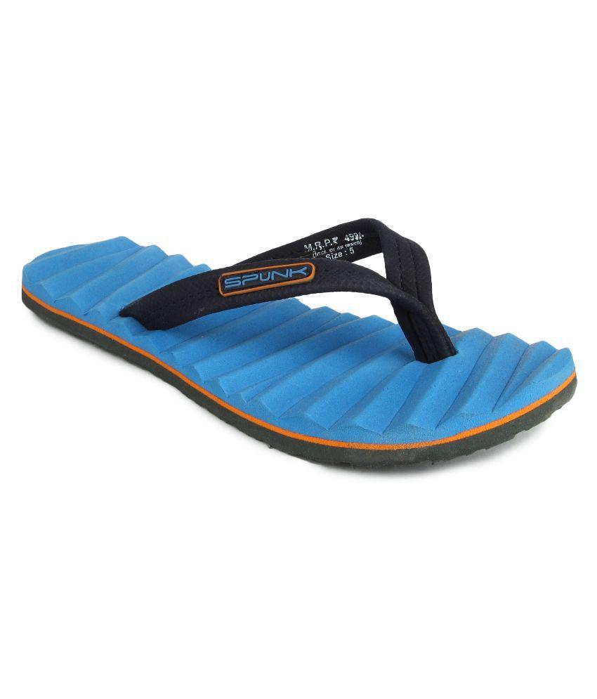 Spunk Blue Flip Flops