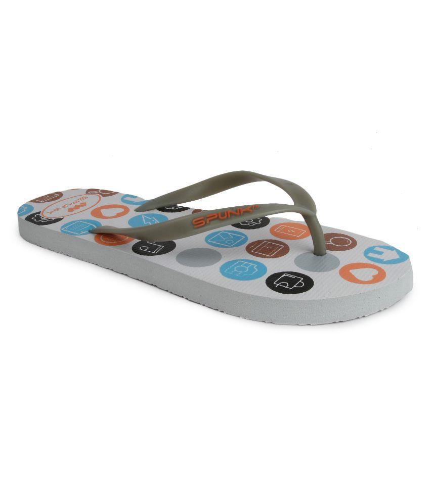 Spunk Gray Flip Flops
