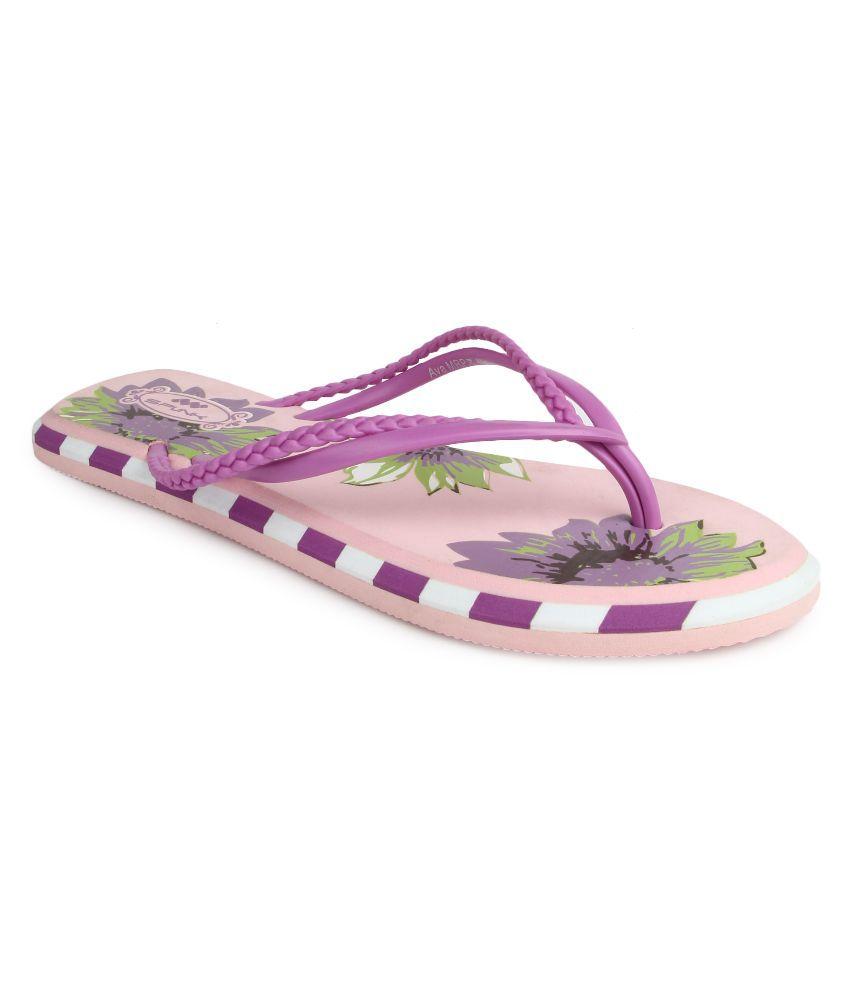 Spunk Purple Flip Flops