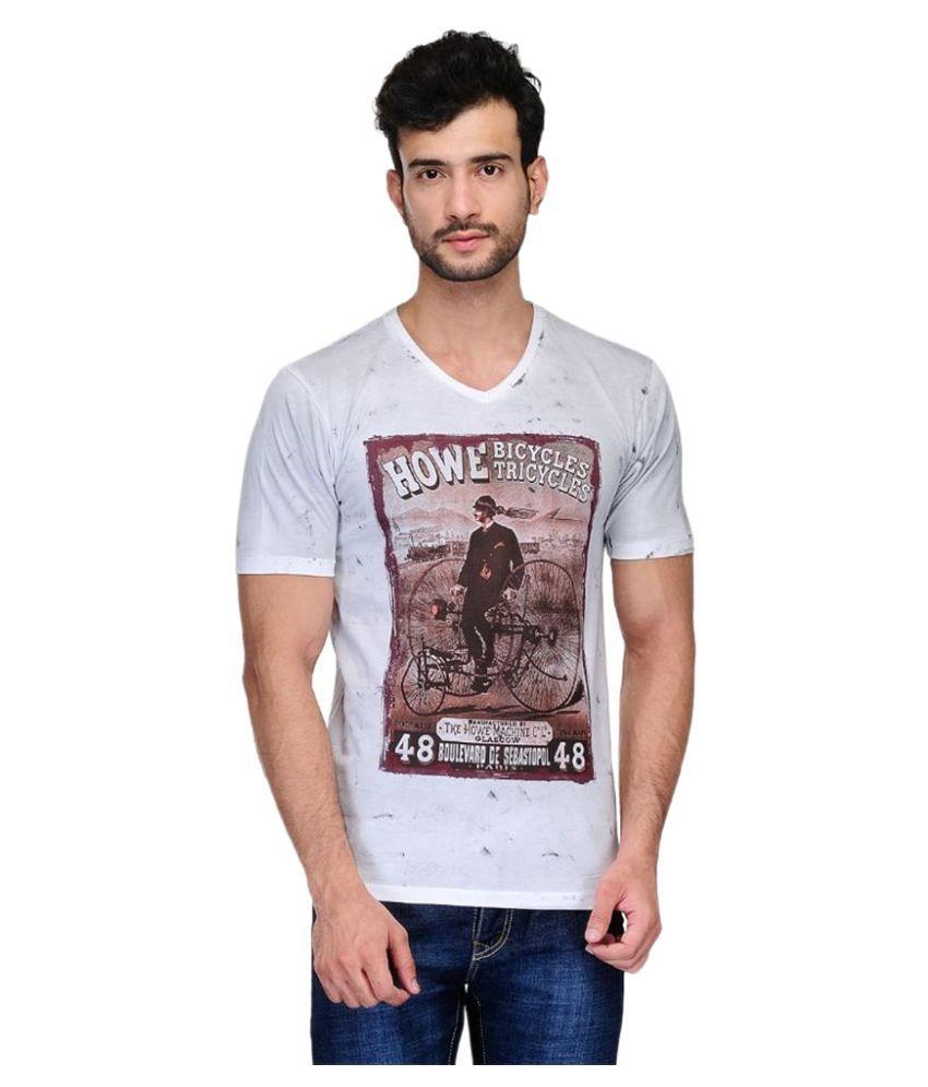 Ausy White V-Neck T Shirt