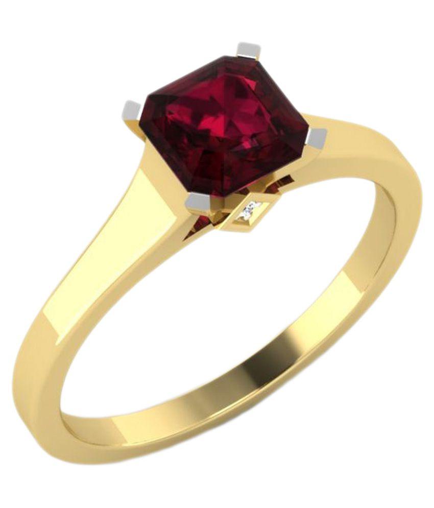 Carat Forever 14k Gold Gemstone Diamond Solitaire Ring