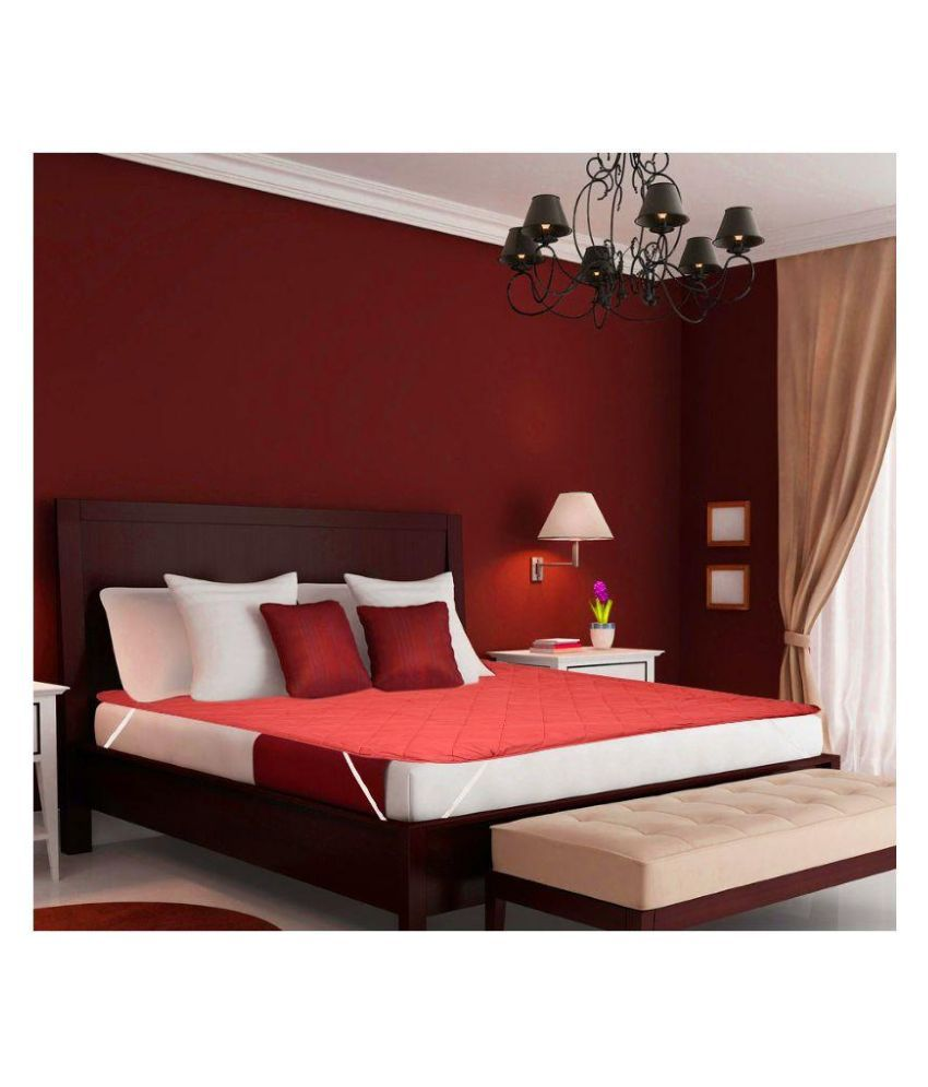 desirica red waterproof double bed mattress protector buy desirica