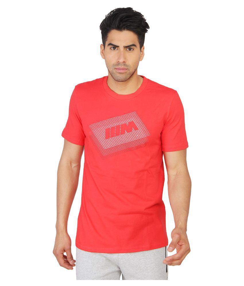 Puma Red Round T Shirt