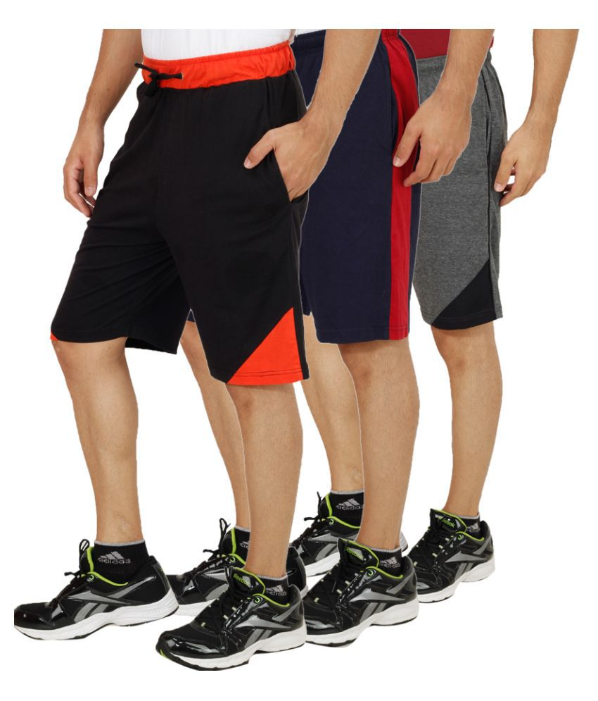 Sanvi Traders Multi Shorts Pack of 3
