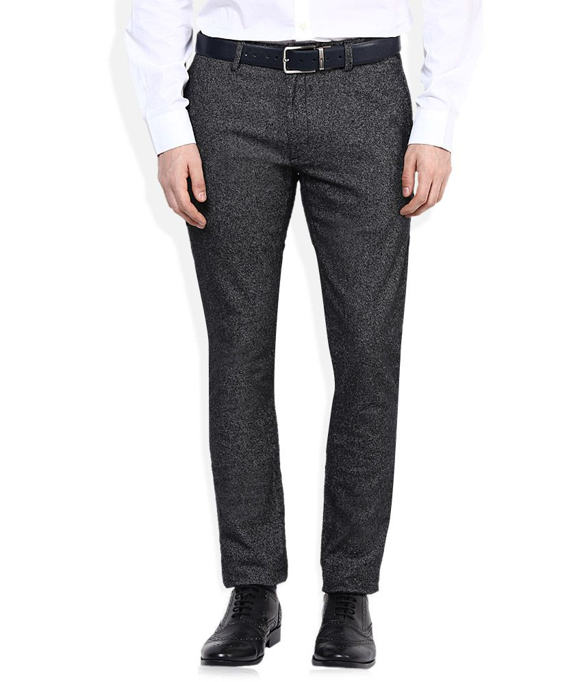 Selected Black Slim Fit Flat Trousers