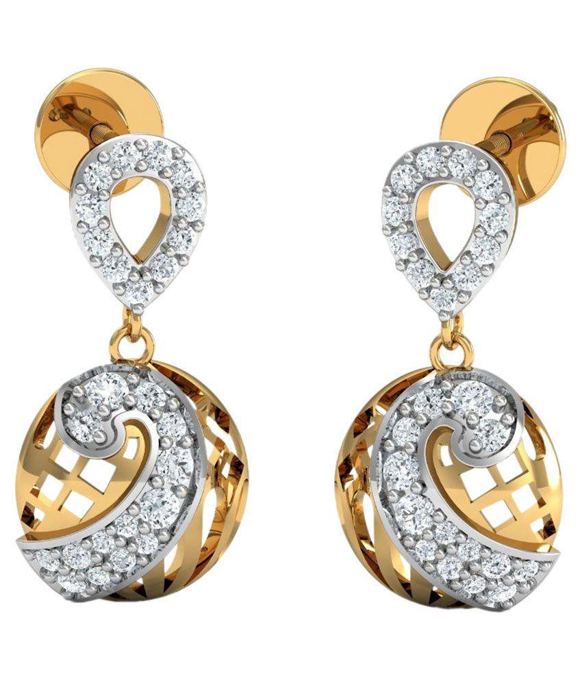 Carat Forever 14Kt BIS Hallmarked Yellow Gold Diamond Drops