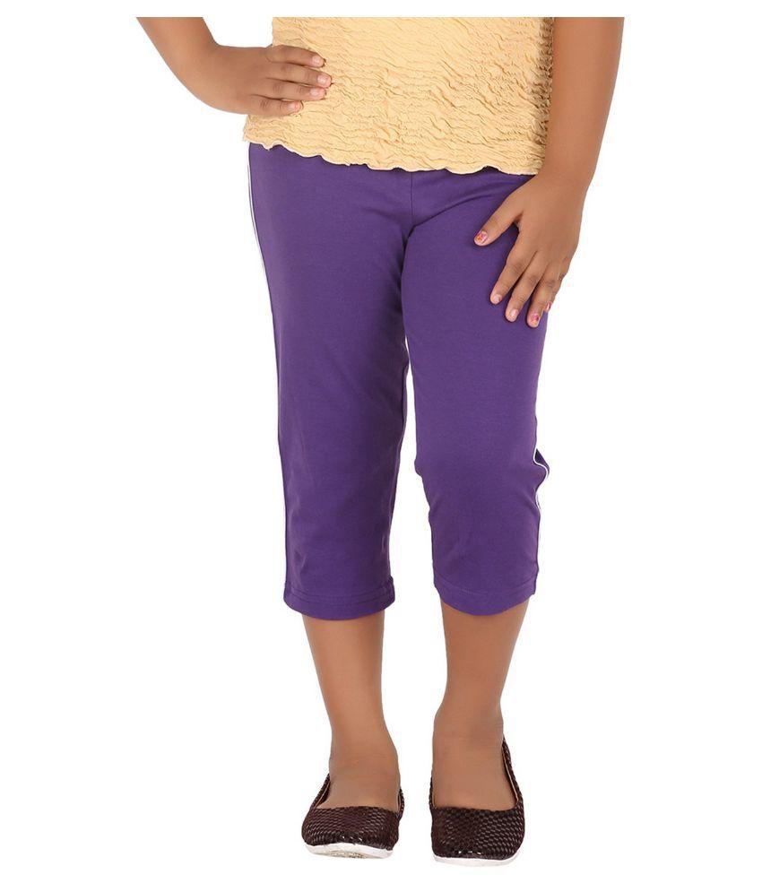 Minnow Purple Cotton Capri