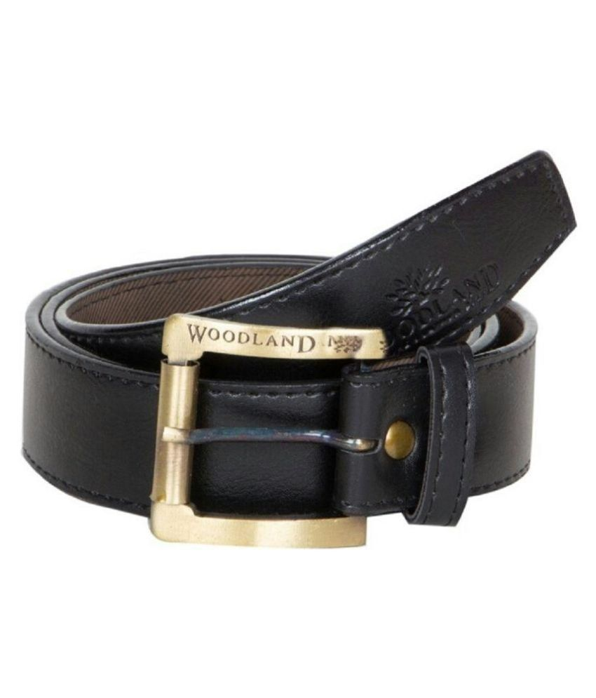 Bsquare Black Leather Belt for Men