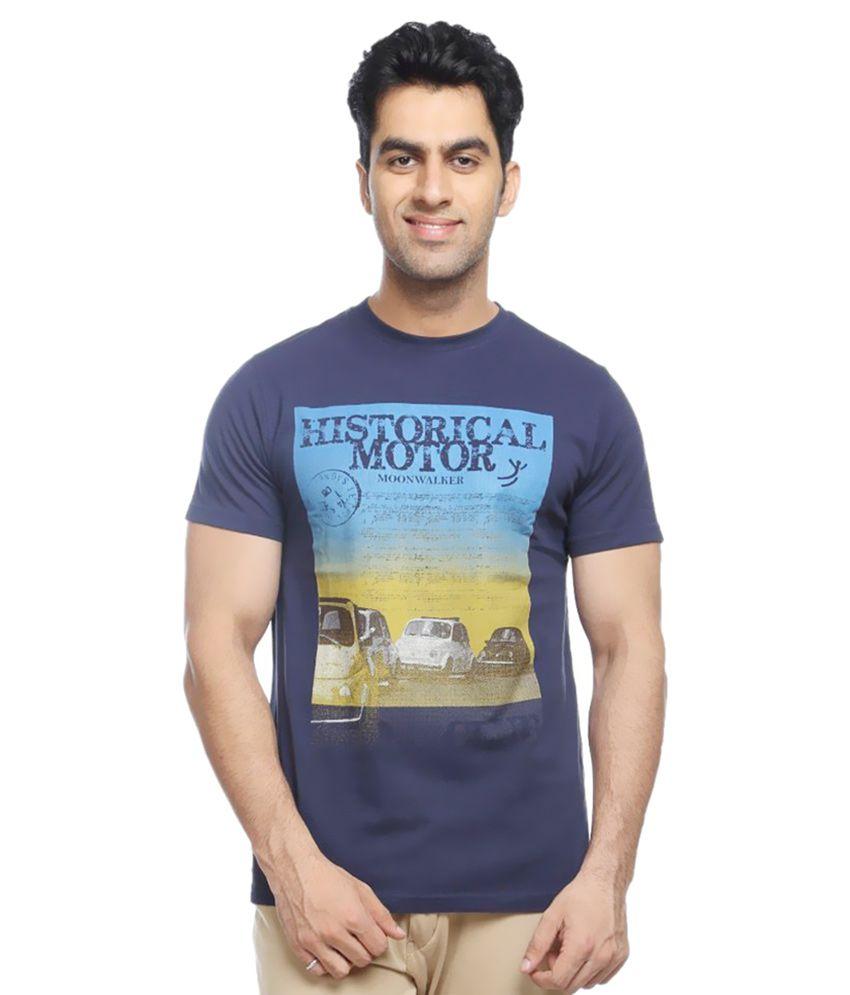 Moonwalker Navy Round T Shirt 1
