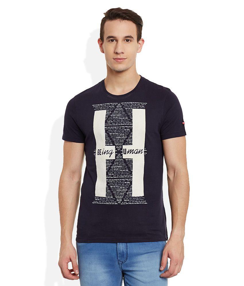 Being Human Navy Round Neck T Shirt