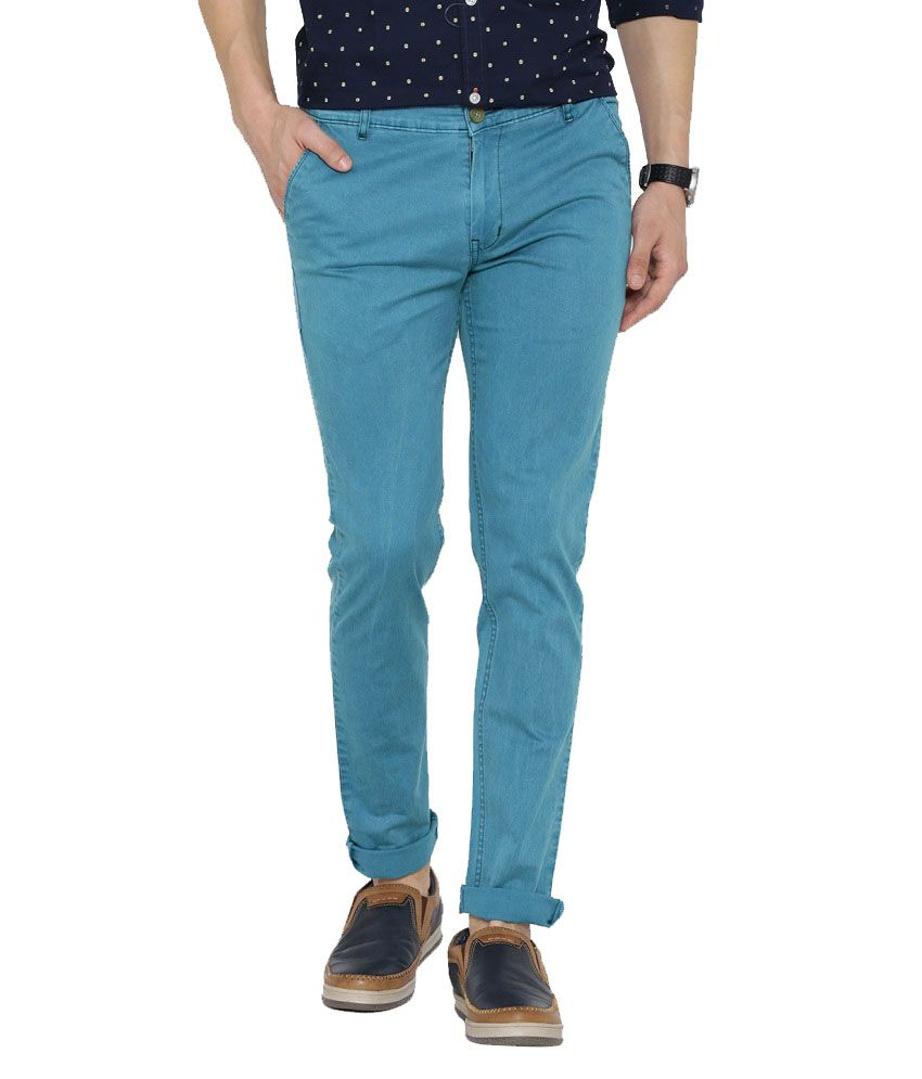 Hubberholme Blue Slim Fit Chinos
