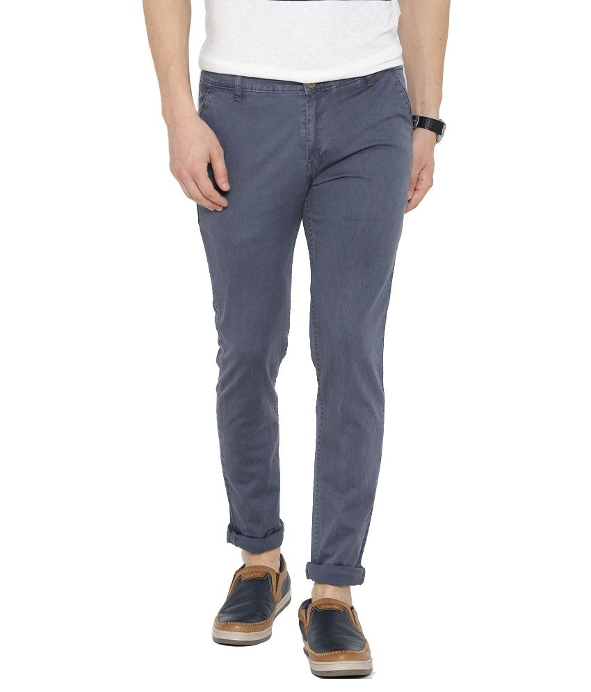 Hubberholme Grey Slim Fit Chinos