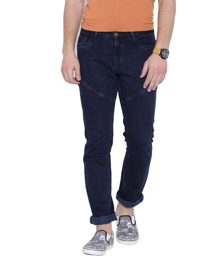 Hubberholme Navy Slim Fit Solid Jeans