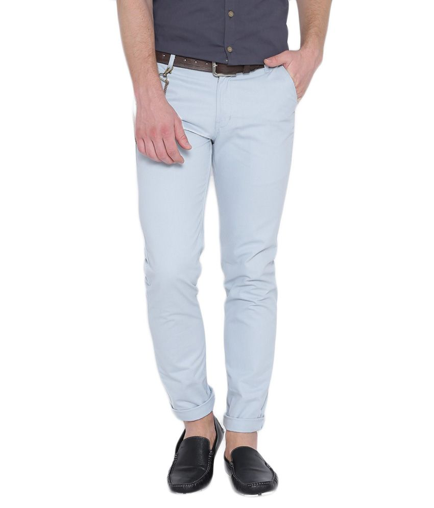 Hubberholme White Slim Fit Chinos