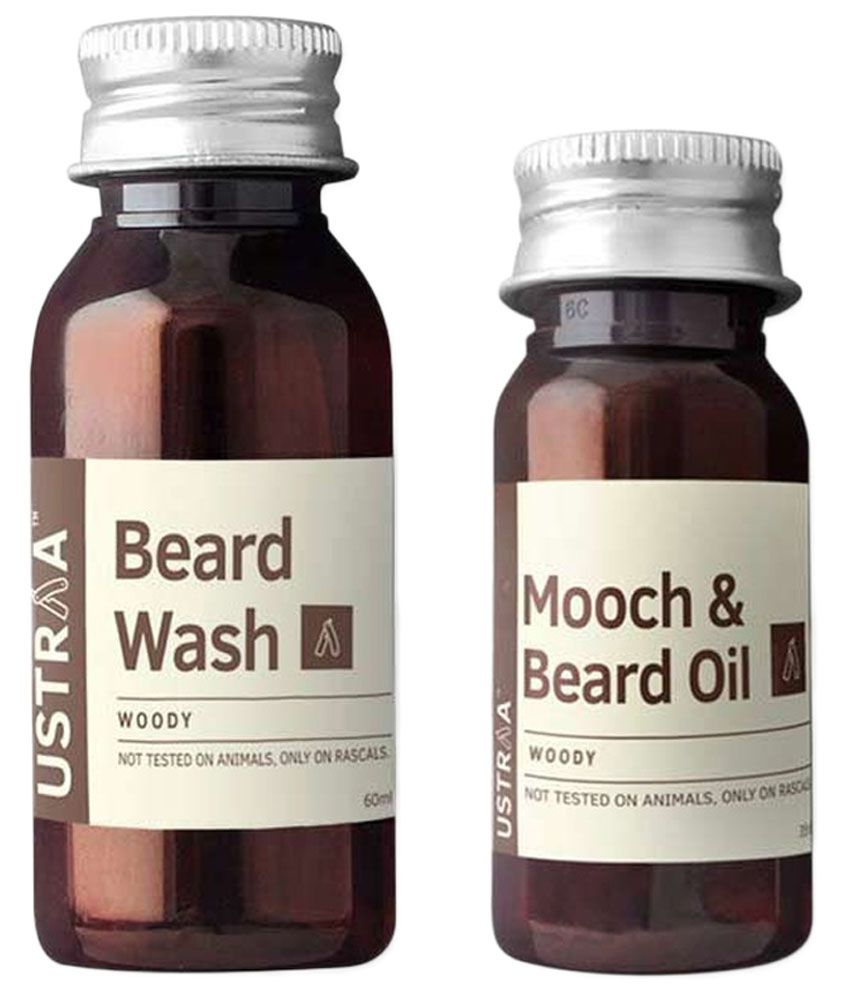 ustraa by happily unmarried beard wash and oil woody set of 2 buy ustraa by happily unmarried. Black Bedroom Furniture Sets. Home Design Ideas