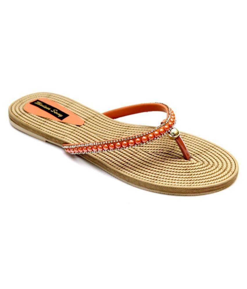 Vogueville Orange Slippers