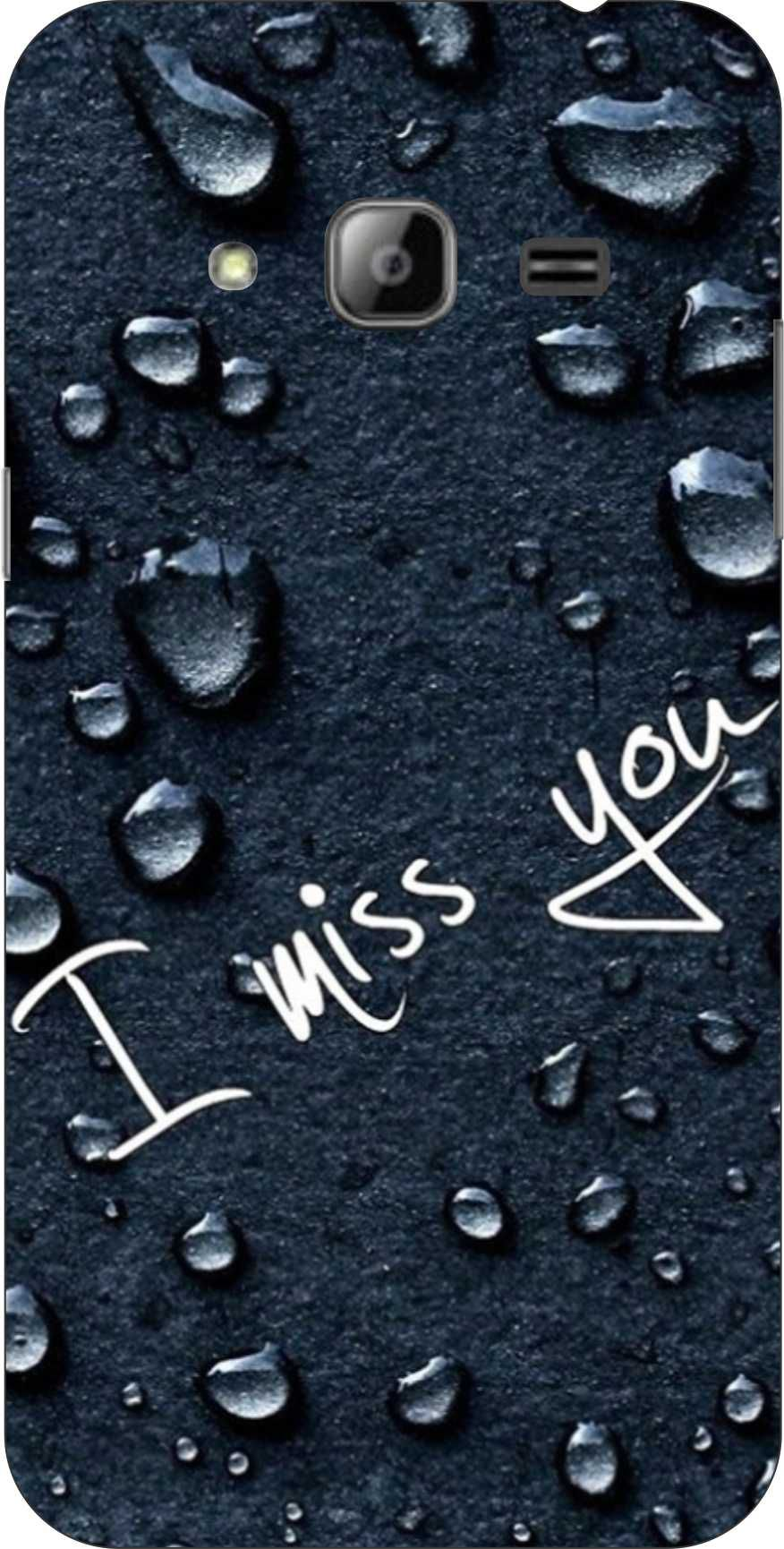 Dot Print I Miss U Printed Back Cover For Samsung Galaxy J30