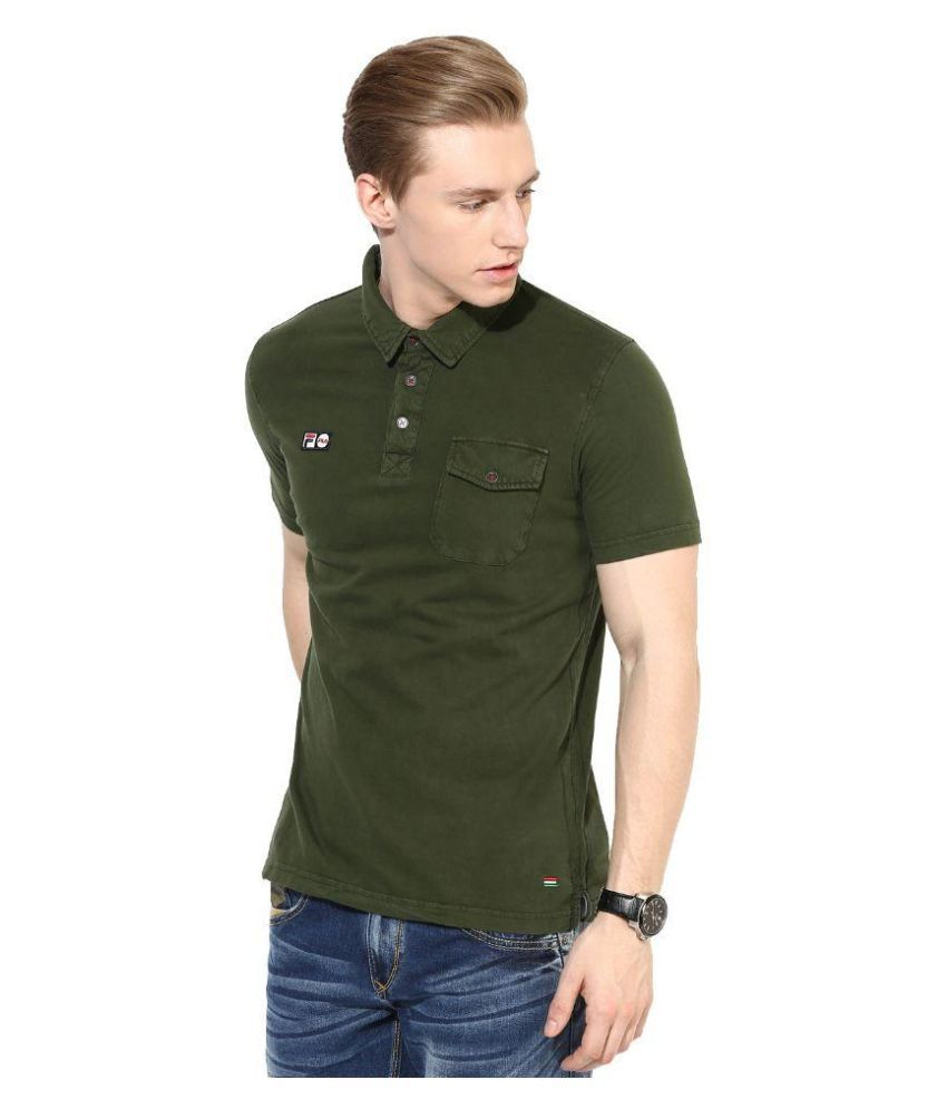 Fila Green Polo T Shirts