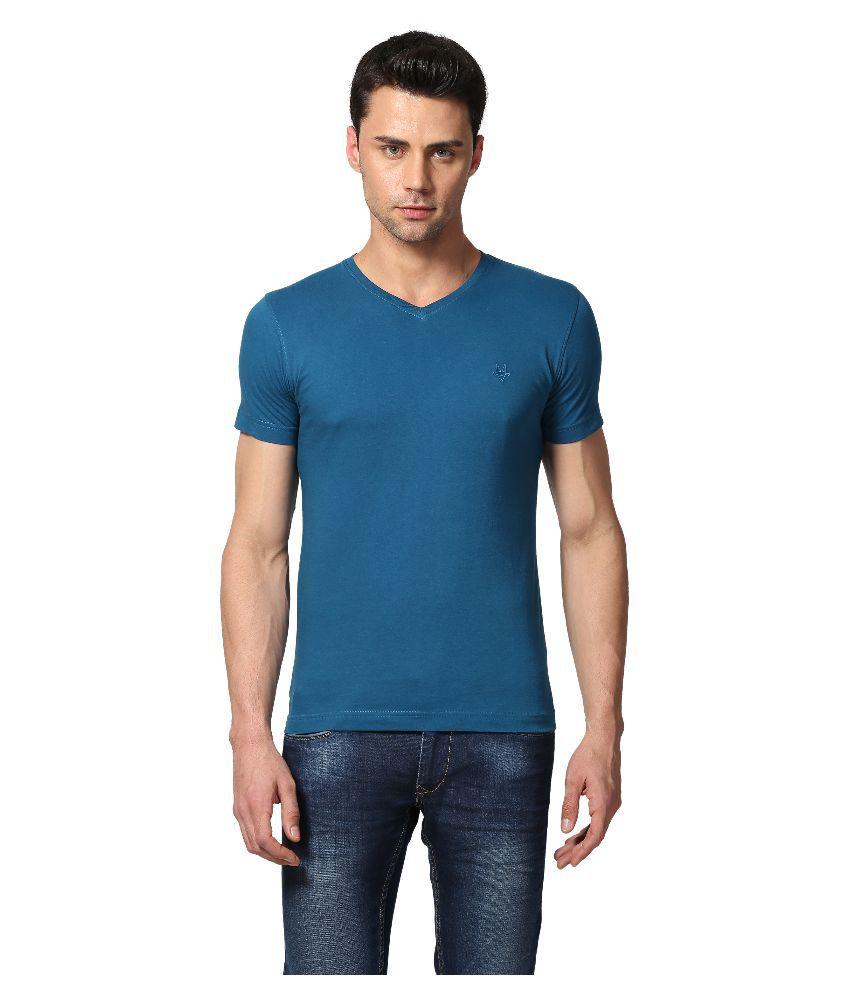 Goat Blue V-Neck T Shirt