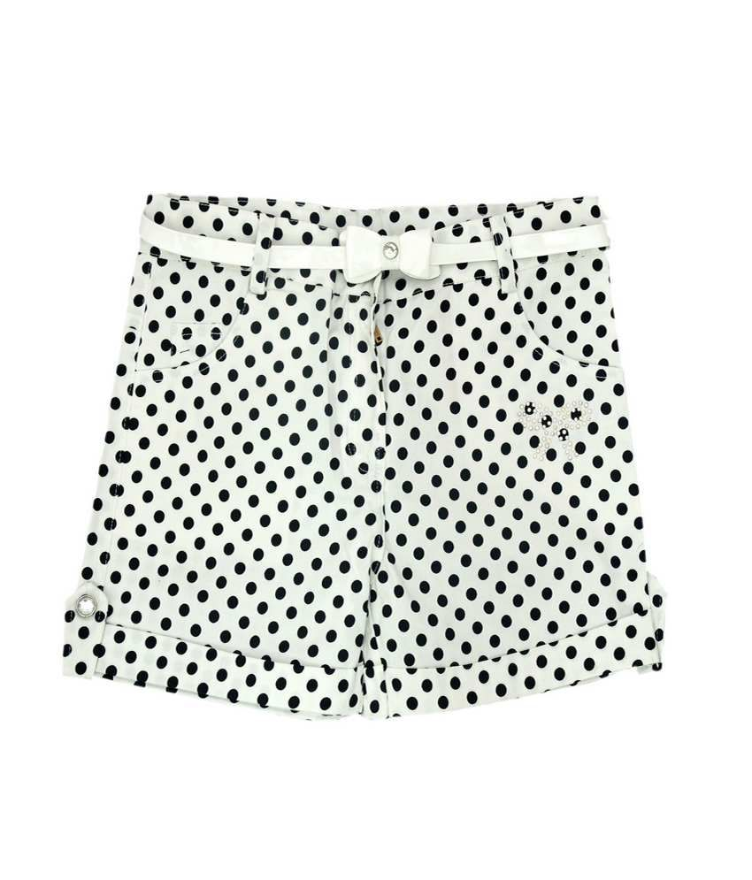 Titrit White Cotton Shorts for Girls