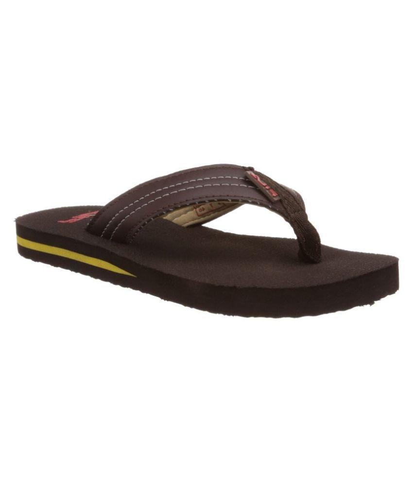 fd67981db6b1 Fila Brown Flip Flops Price in India- Buy Fila Brown Flip Flops Online at  Snapdeal