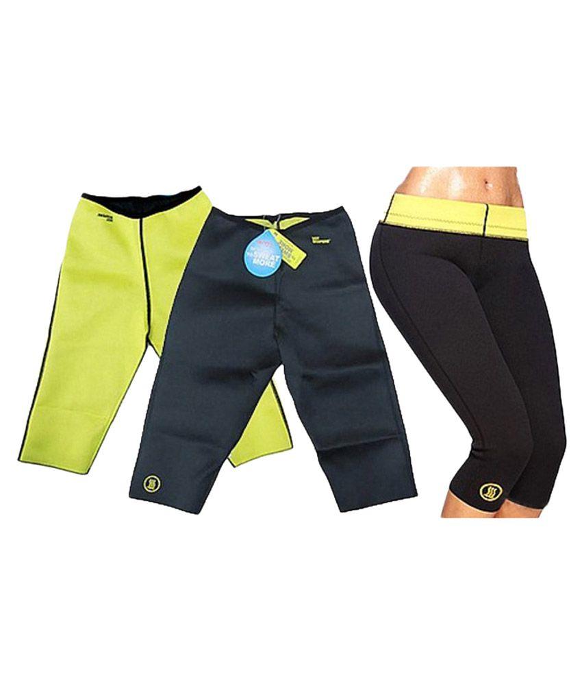 Jaatara Black and Yellow Hot Slimming Shaper Shorts