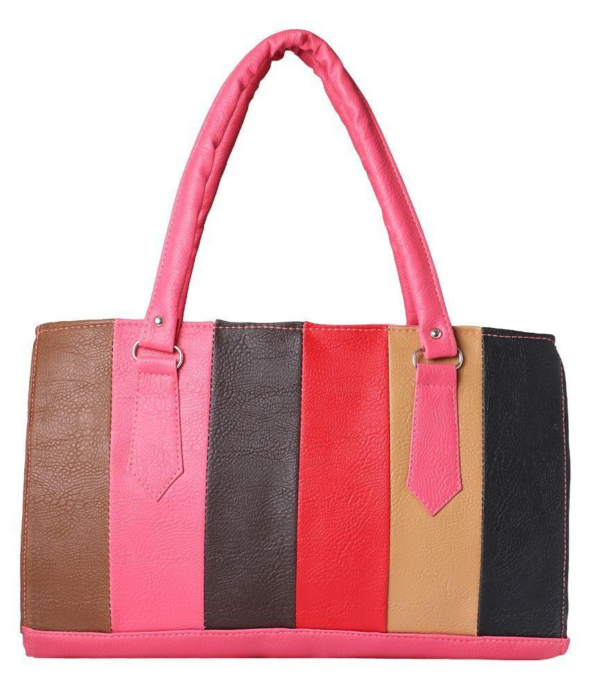 Naina Multi Color Faux Leather Shoulder Bag