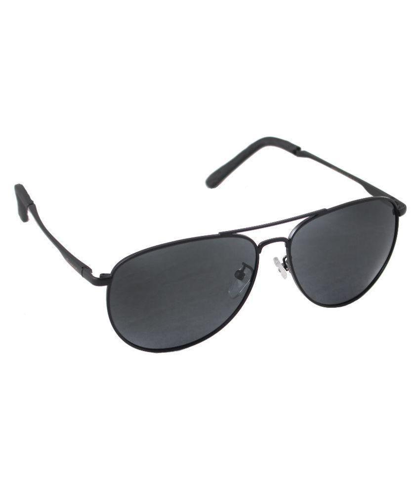 Qwerty Black Polarized Aviator Sunglasses