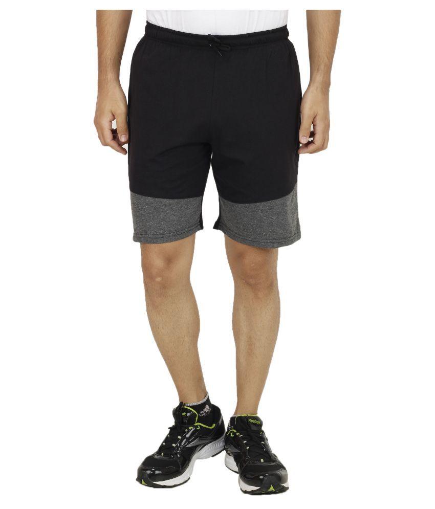 Sanvi Traders Black Shorts