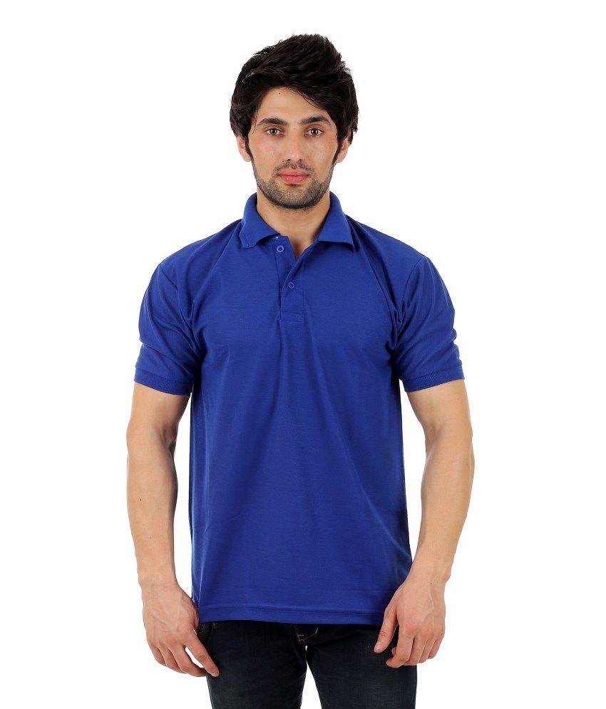 7e293660cad6 Vestiario Blue Cotton Blend Polo T Shirt - Buy Vestiario Blue Cotton Blend  Polo T Shirt Online at Low Price - Snapdeal.com