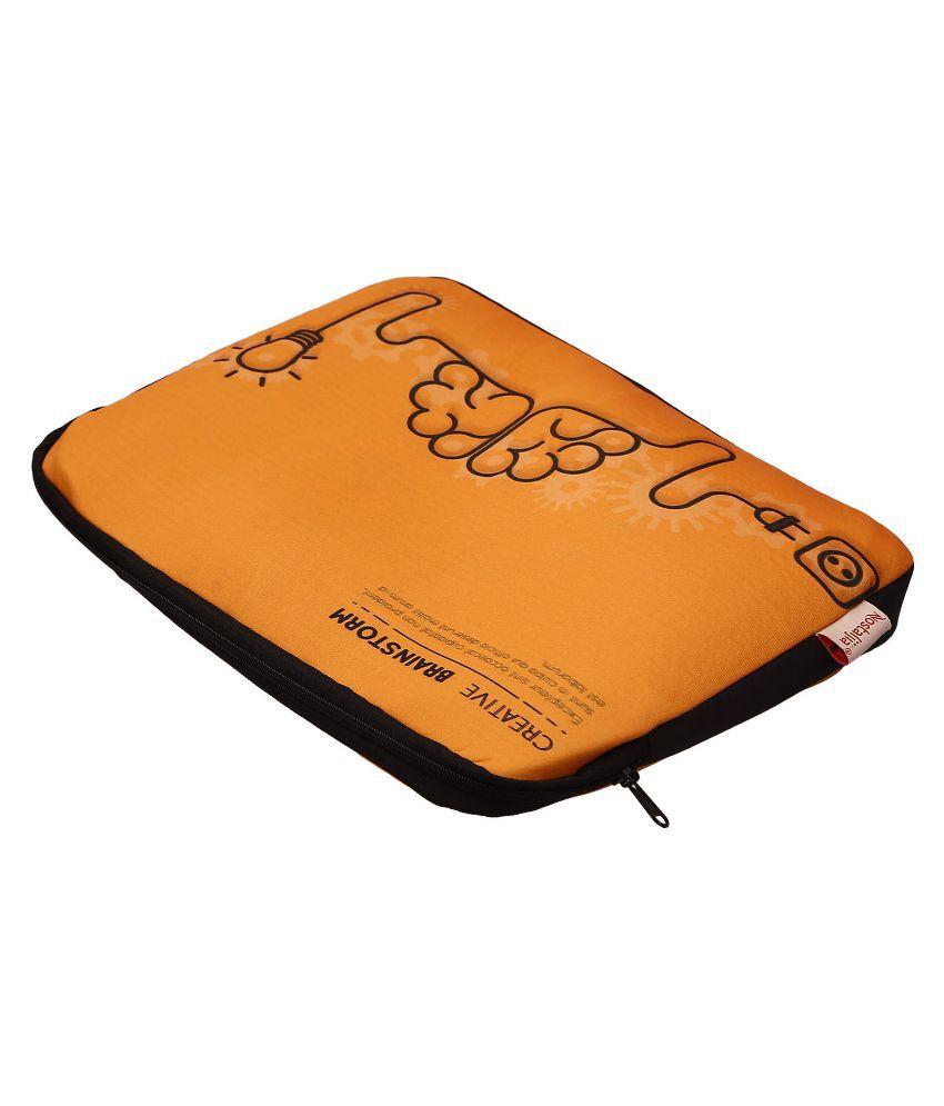 Nostaljia Orange Polyester Laptop Sleeve