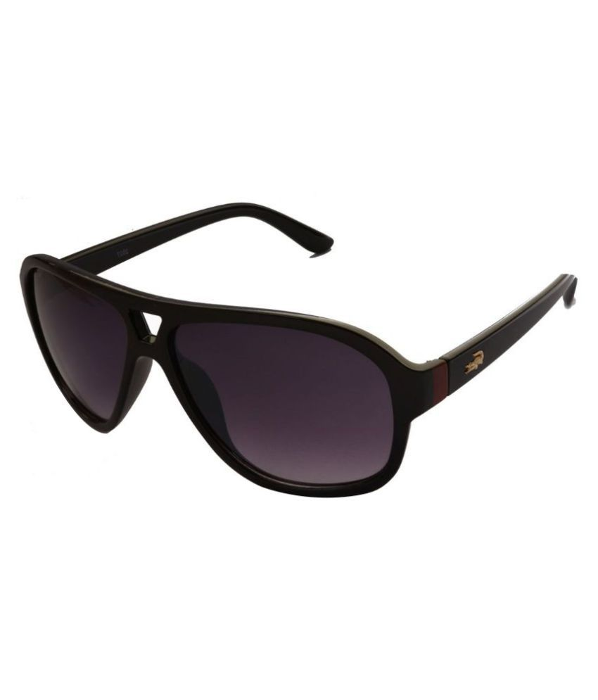 Pumawrap Black Wayfarer Sunglasses ( CrocodileB1 )