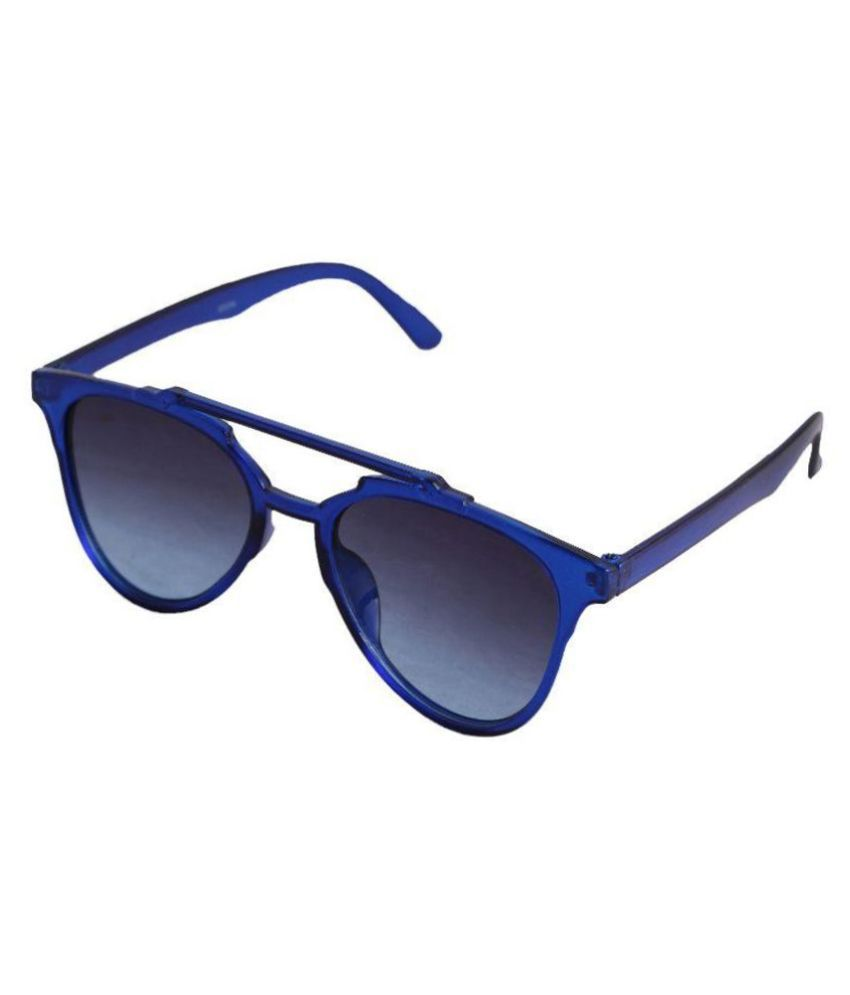 Qwerty Blue Panto Sunglasses (JK248)