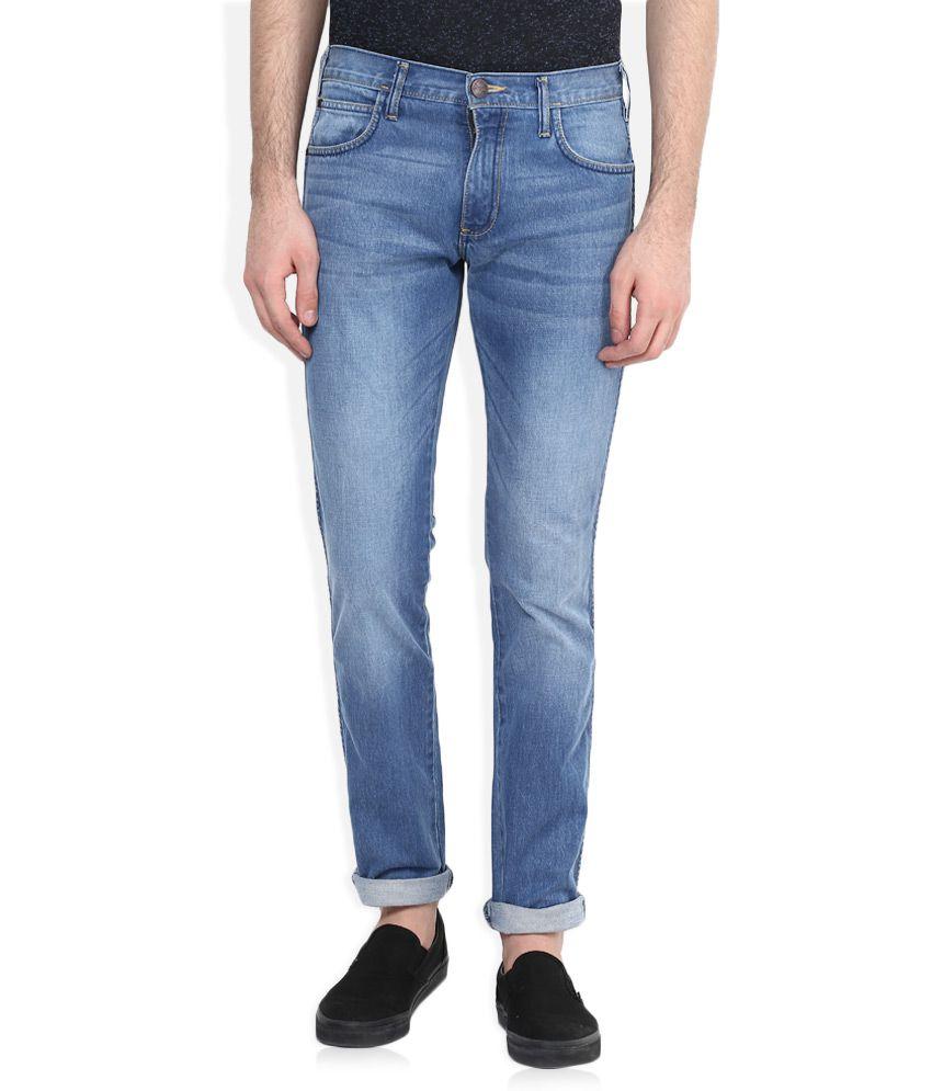 Wrangler Blue Greensboro Regular Fit Jeans