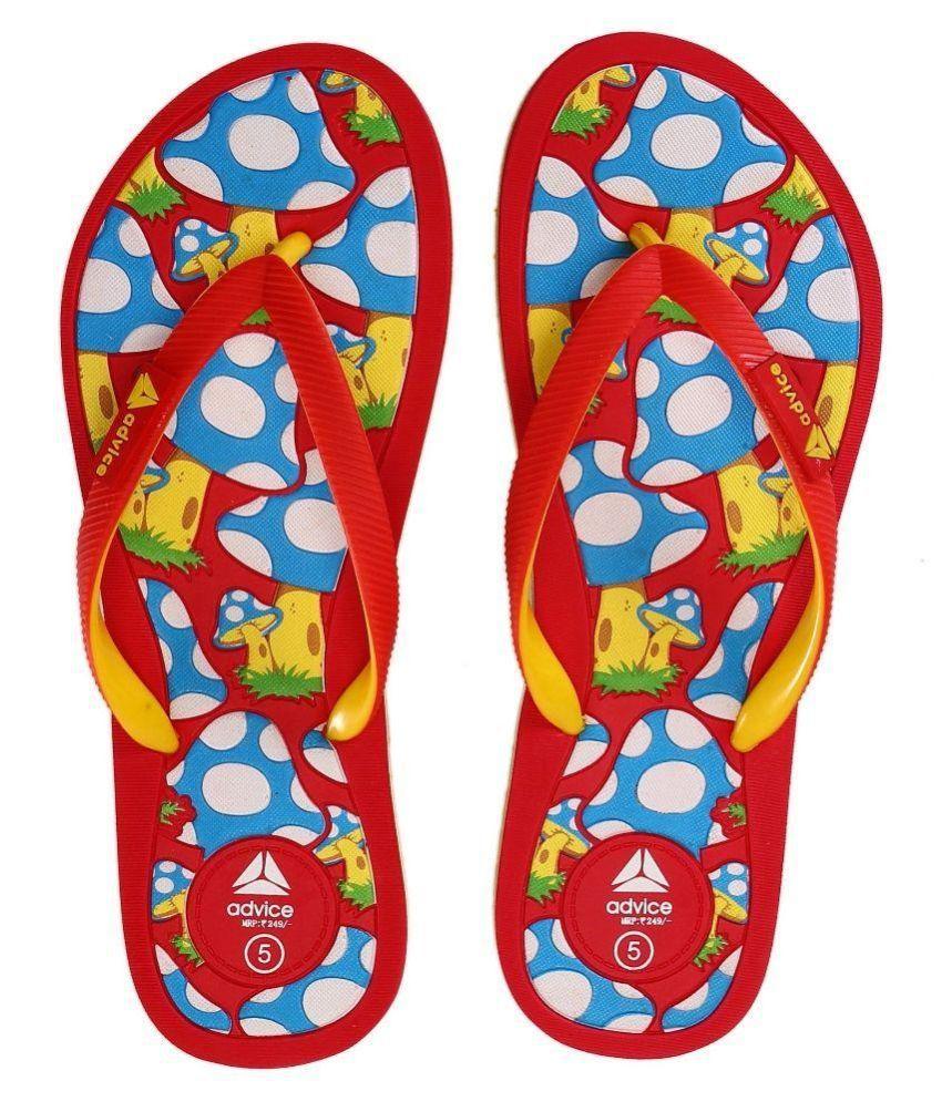 Advice Red Flip Flops